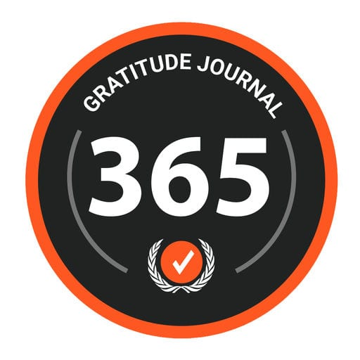 365 Gratitude: Diary, Journal, Grateful Icon