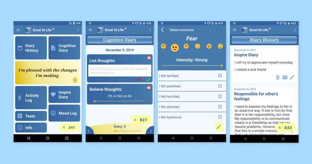 Cognitive Diary CBT Self-Help Screenshots