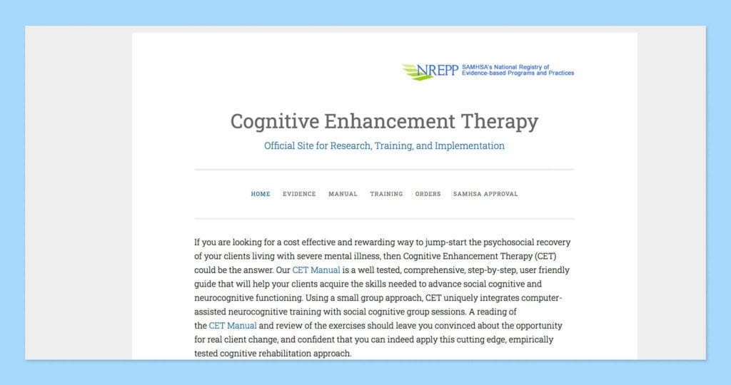 Cognitive Enhancement Therapy Screenshots