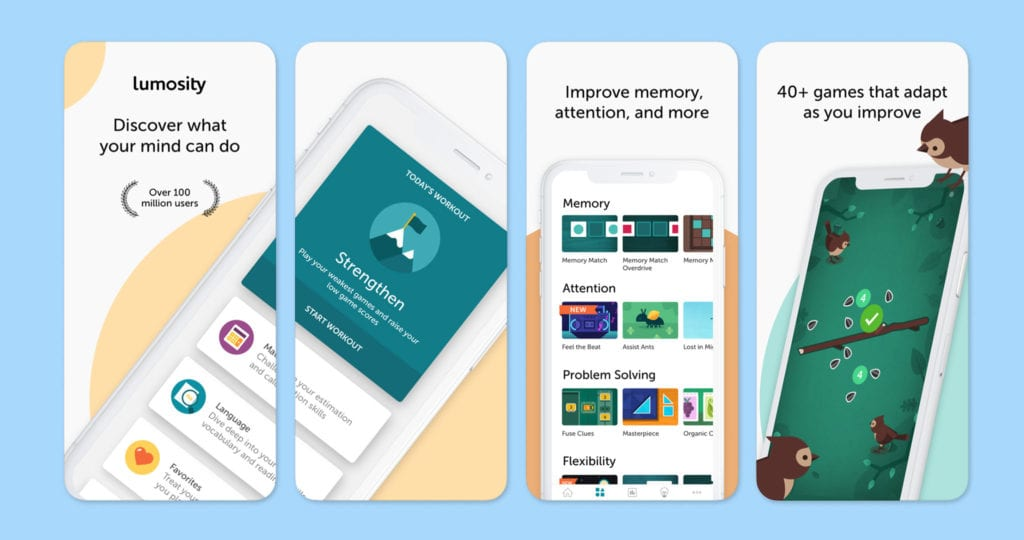 Lumosity Screenshots