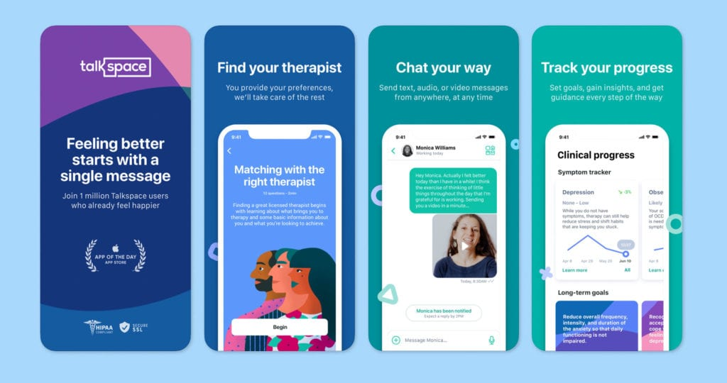 Talkspace Counseling & Therapy Screenshots