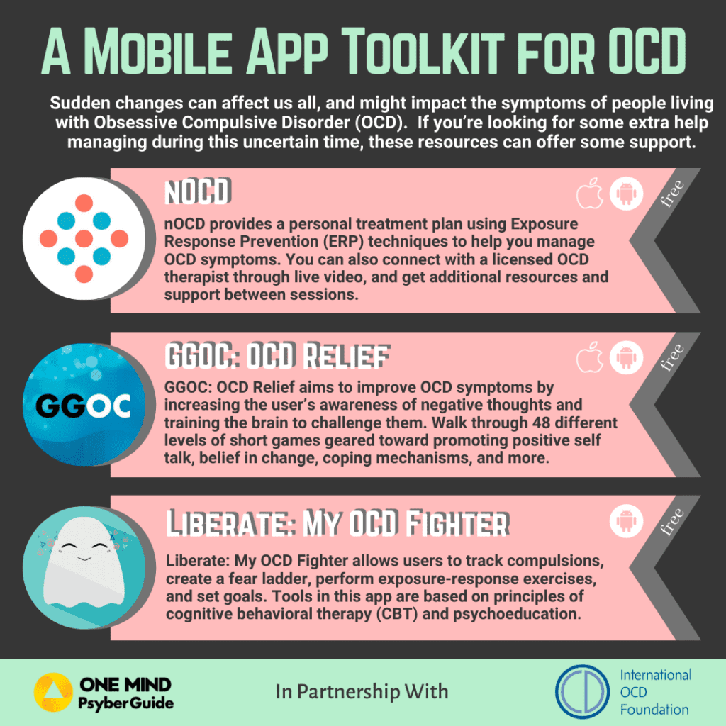 A mobile app toolkit for OCD