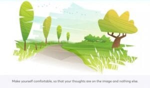 Positive imagery exercise from the COVID Coach app.
