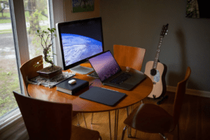 Workspace with computer